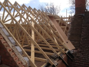 Cutting in roof
